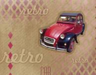Balicí papír 100 x 70 cm 2 ks, RETRO-auto, DITIPO - VÝPRODEJ