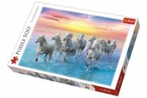 Puzzle Cválající bílé koně 500 dílků 48x34cm