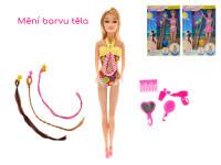 Panenka kloubová 29 cm plážová UV měnící barvu těla s příčesky a doplňky - mix variant či barev
