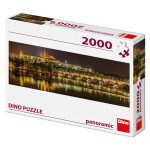 Dino puzzle Karlův most v noci 2000 dílků panoramic