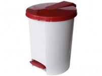 koš odpadkový nášlapný VOX 10l kulatý s vložkou, plastový - mix barev - VÝPRODEJ