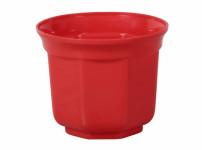 Obal na květník SANTOS plastový červený d8cm