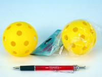 Míček floorbalový plast průměr 7cm - mix barev