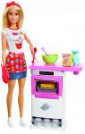 Barbie vaření a pečení herní set s panenkou