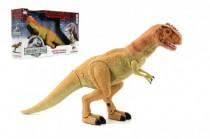 Dinosaurus chodící plast 45cm na baterie se světlem a zvukem