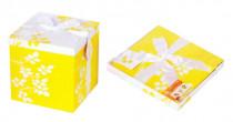 Skládací dárková krabička XL, žlutá - VÝPRODEJ