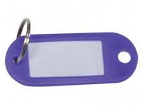 visačka na klíče CONCORD plastová, s krouž. (100ks) - mix barev