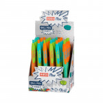 Fancy kuličkové pero modrá náplň 0,7 mm display 24ks, oranž fluo mix