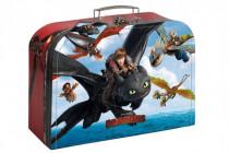 Kufřík dětský školní papírový Dragons/Jak vycvičit draka vel.25cm