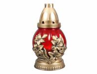 Svíčka sklo Květ červená - 60 g (58CS3426)
