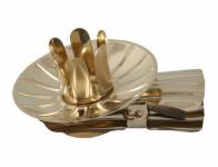 Držák svíček na stromečky zlatý 3,8cm 6ks - VÝPRODEJ