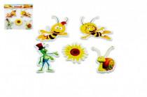 Pěnové dekorace na zeď Včelka Mája Slunečnice 32x37cm