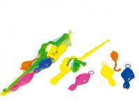 Hra ryby/rybář plast 3ks+prut 50cm - mix barev - VÝPRODEJ