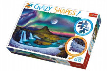 Puzzle Aurora nad Islandem 600 dílků Crazy Shapes 68x48cm