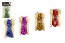 Švihadlo 270cm s dřevěnou rukojetí nastavitelné mix barev v sáčku CZ design - mix variant či barev