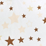 Luxusní hnízdečko s peřinkami pro miminko New Baby hvězdičky hnědé - VÝPRODEJ