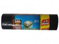 pytle na odpadky 240l (8ks) 120x150cm ČER 50µ extra silné FINO