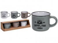 hrnek 100ml COFFEE keramický (3ks) - mix barev