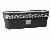 Truhlík samozavlažovací CLOE plastový antracitový 50x18x17cm - VÝPRODEJ