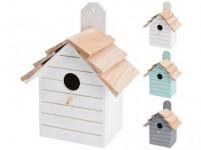 budka ptačí zahnizďovací 16x22x11cm dřevěná - mix barev