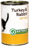 Nature's Protection Cat konz.Kitten krůta/králík 400 g