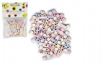 Korálky plastové abeceda 300ks 6mm
