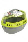 Přepravka pro hlodavce šedá/zelená 25x36x26cm medium