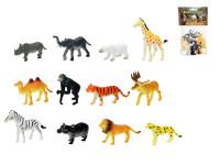 Zvířátka safari mláďata 6,5-9 cm 12 ks