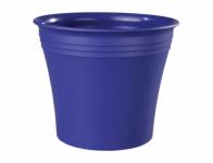 Obal na květník MICHELE plastový tmavě modrý d22x19cm