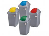 koš odpadkový výklopný MULTIPAT 60l čtvercový ŠE/ČRV plastové víko