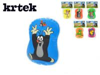 Pískací polštářek Krtek plast 9x12cm - mix variant či barev