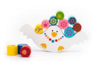 Slepička a kuřátka - dřevěná montessori hračka