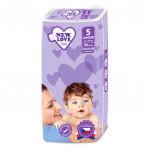 MEGAPACK Dětské jednorázové pleny New Love Premium comfort 5 JUNIOR 11-25 kg 5x38 ks - VÝPRODEJ