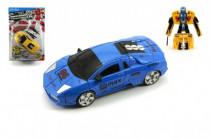 Transformer auto/robot s doplňky plast 16cm - mix barev
