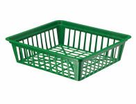 Košík na cibuloviny tmavě zelený 28x25x7cm