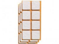 ochrana podlah filcová 20x20mm BÍ (24ks)