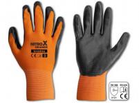 rukavice NITROX ORANGE nitril 10 - VÝPRODEJ