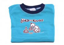 Dětské tričko Mayaka s dlouhým rukávem The Lord of the Rings - tyrkysové Vhodné pro věk 6-12 měsíců - VÝPRODEJ