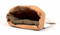 Pelech cat papír+textil Polštář hnědý EBI 44 x 28 x 3 cm