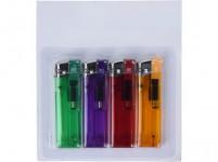 zapalovač kapesní plnicí (4ks) - mix barev
