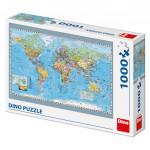 Puzzle 1000 dílků: Politická mapa světa