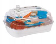 Klec hlod. křeček plast Abode - bílá/mod./oranž RW 55 x 39 x 26,5 cm