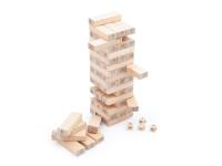 Jenga - dřevěná věž s čísly, montessori