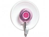 háček samolepící kul.3,6x4,5cm plastový + kov. (3ks) - mix barev