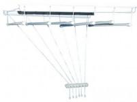 sušák stropový IDEAL 170cm 6 tyčí plastový + kov. BÍ