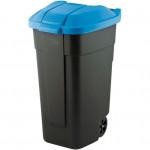 nádoba na odpadky 110l plastová, ČER+MO víko