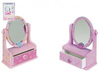 Zrcadlo šperkovnice zásuvka dřevo - mix barev