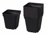 Kontejner pěstební plastový černý 13x13x13cm 10ks - VÝPRODEJ