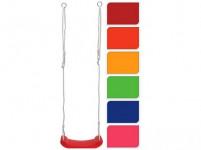 houpačka dětská s lanem 42x16,5x2,5cm, nosnost 40kg, PH - mix barev