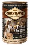 Carnilove WM konz. Venison + Reindeer Grain Free 400 g